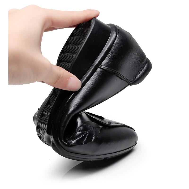 Bas Pointu Chaussures Mode Black green Talon Oukahui Décoration Cuir En Appartements Femmes red De Soirée Élégant Dames gary Printemps Véritable Feuilles Bout wBxqFx