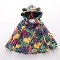 NUEVOS hoodies de las muchachas adolescentes niñas plus fleece jacket coat oso estilo de los niños tops marca de moda ropa de bebé niñas abrigo de invierno outwear