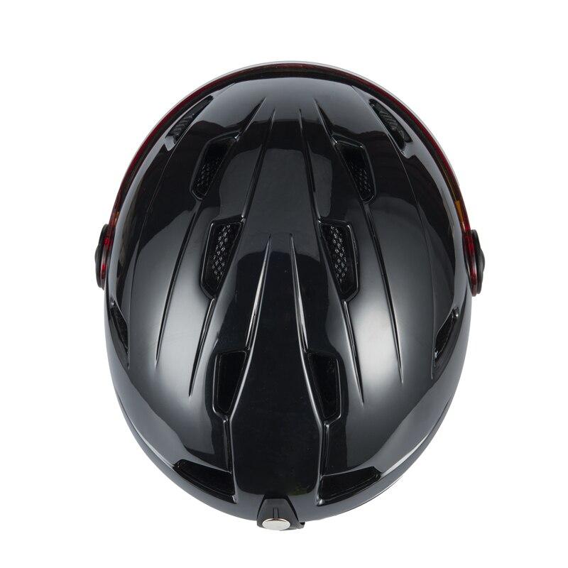 Haute Qualité Intégralement Casque De Ski Avec Lunettes Demi-couvert Ski Casque Lunettes CE Sports de Plein Air Snowboard Casque Noir - 4