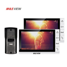 Best Buy Brand New Wired 9 inch LCD TFT Video Intercom Door Phone System + Night Vision Outdoor Camera + Two White Screens Free Shipping