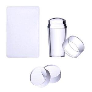 Biutee стемпинг новогодний штамп прозрачный для ногтей силиконовые пластины для стемпинга +. скребок с+топ прозрачный 2.8 см ногтей штамп маникюр дизайн ногтей