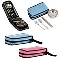 Travel Portable HIgh Quality Folding Cutlery Sets Picnic Lunch Bowl Fork Spoon Chopsticks Camping Double Outdoor Tableware#10-18