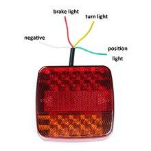 1 pièce 12 v lumière LED de remorque camion léger camion camping rv voiture accessoire arrêt frein indicateur de direction position arrière plaque dimmatriculation lampe