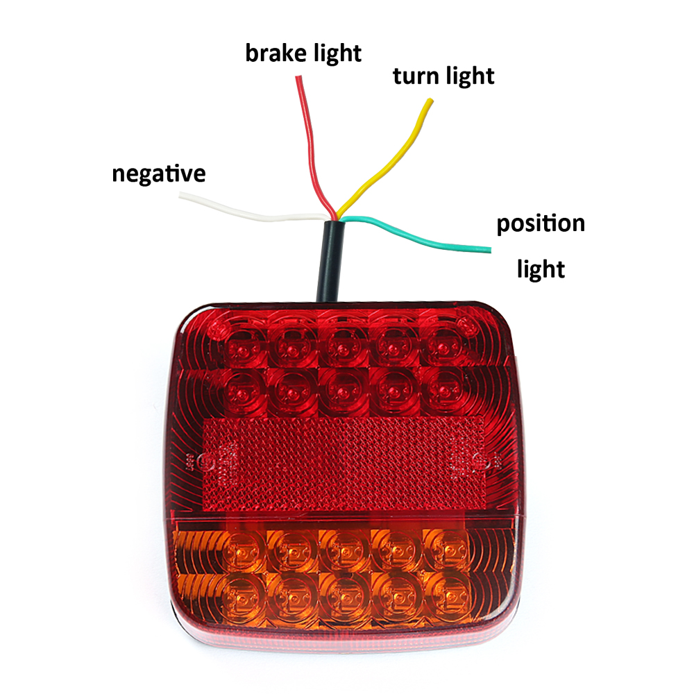 1 piece 12 v LED Trailer Light truck lorry camp rv car accessory stop brake direction indicator rear position number plate lamp-in Truck Light System from Automobiles & Motorcycles