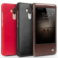 QIALINO 2017 Case For Huawei Ascend Mate 9 Hot Luxury Genuine Leather Flip Cover For Huawei