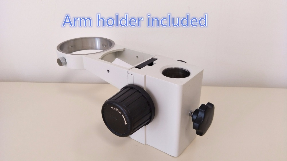 Free shipping stereo microscope focus arm holder 76mm dia arm bracket holder microscope Bolder arm