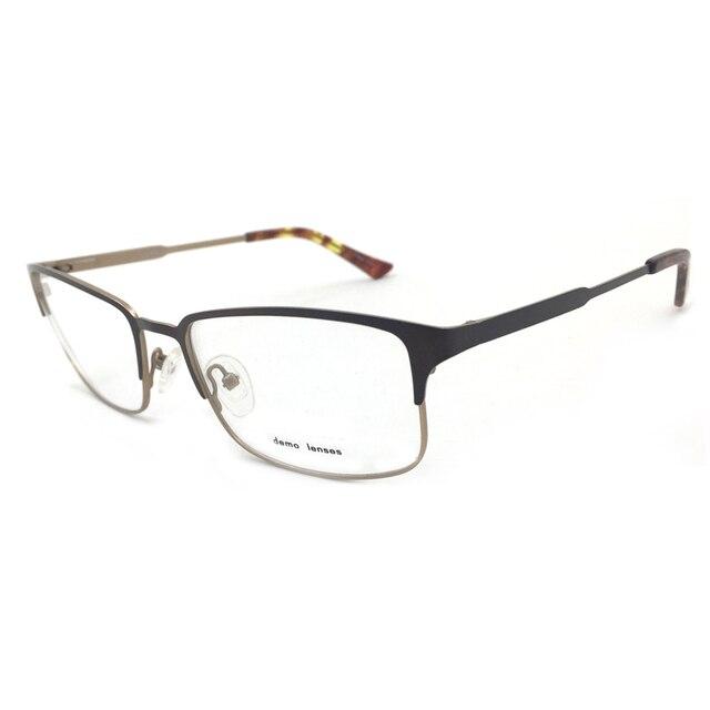 9e5bfb61c8 Laura de moda antiestrés ojo gafas marcos para los hombres Color marrón  negro Caballero miopía gafas
