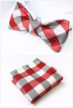 Butterfly Bow Tie and Pocket Square Handkerchief Set