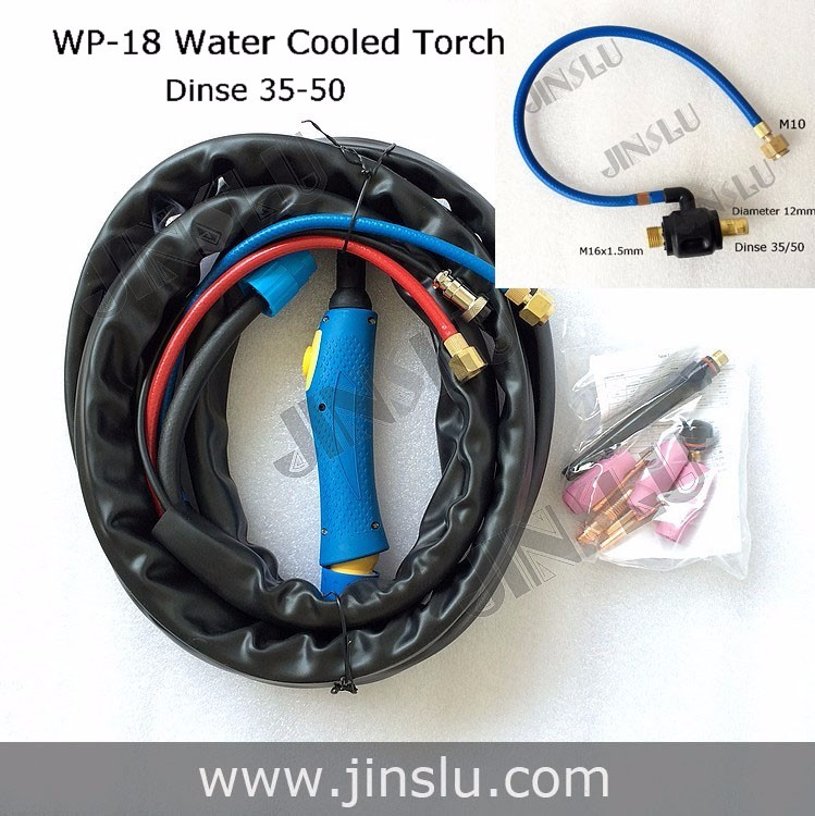 ФОТО TIG-18/WP-18 Water cooled seperate 4M Welding Torch with blue head body