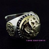 GV Gold Mond Thai Silber Ring
