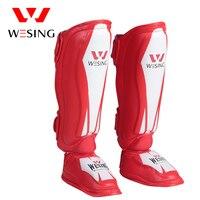 Wesing Shin Guards Muay Thai Sparring Sanda Traning Leg Sleeve Boxing Shin Instep Guard Knee Pads Protective