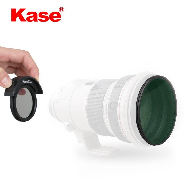 Kase for CN PL-C52(WII) Telephoto Lens Polarizing filter,Free shipping,EU tariff-free shenhua 9587 men s skeleton pu band automatic mechanical analog wrist watch silver black