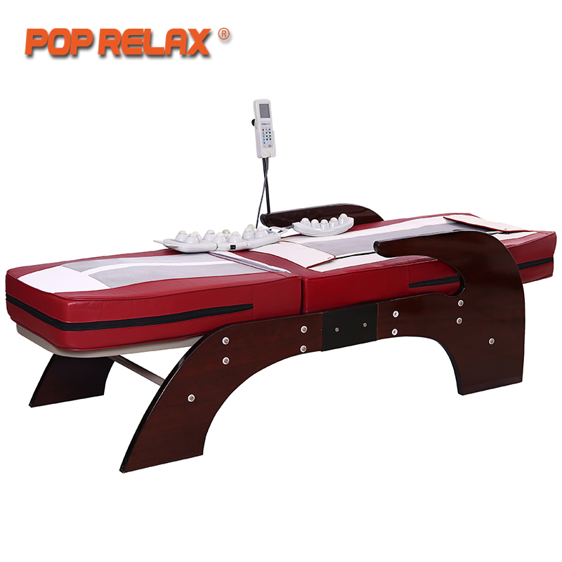 POP RELAX Thermal Massage Bed Full Body Electric Heating Spine Relax Massager Health Care Rolling Korea Jade Roller Massage Bed pop relax electric vibrating massager vibrator red light heating therapy body relax handheld massage hammer device massager