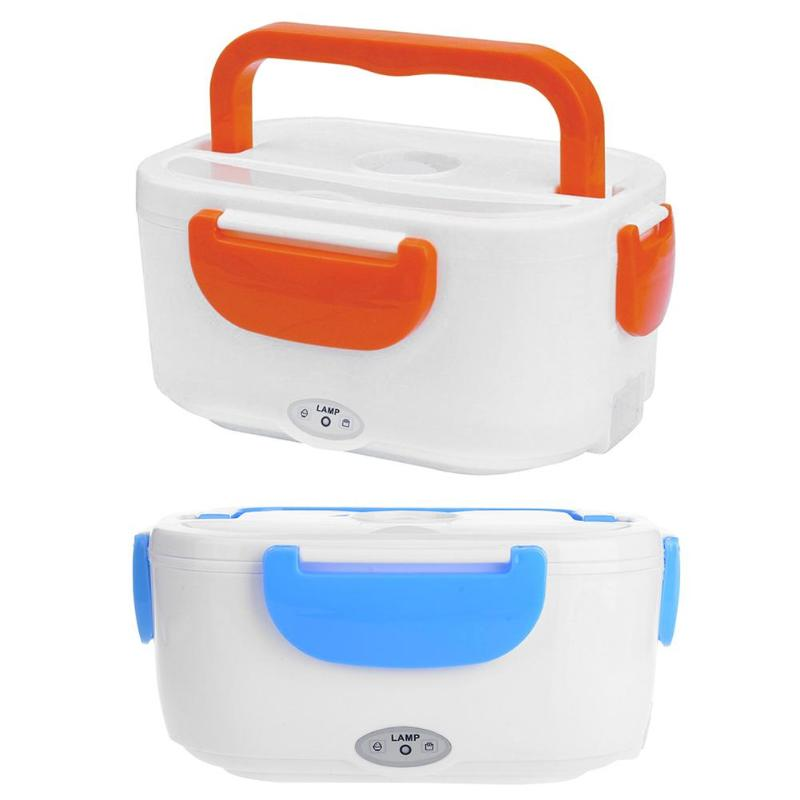 230V EU plug Portable Electric Heating Lunch Box Food-Grade Food Container Food Warmer For Kids 4 Buckles Dinnerware Sets multi function electric lunch box stainless steel tank household pluggable electric heating insulation lunch box
