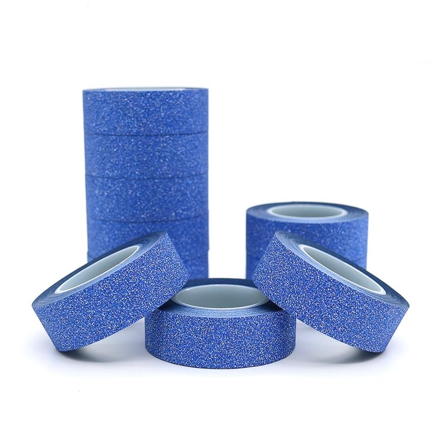 10m*15mm Creative Dark Blue Washi Tape Glitter Flash Stickers DIY Album Decoration Adhesive Hand Account Tape Masking Tape 1 PCS