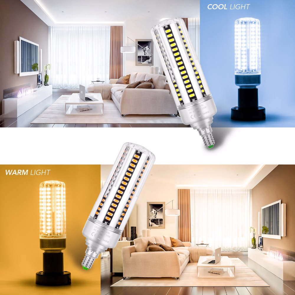 Купить с кэшбэком Bulb LED E27 Corn Lamp 25W Light Led Lamp 220V E14 Lampada Led SMD 5736 Spotlight Bulb 110V Decoration Home Lighting AC85-265V