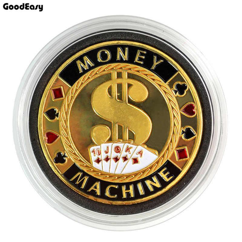 포커 카드 가드 수호자 금속 토큰 코인 카지노 머니 머신 플라스틱 커버 텍사스 포커 칩 세트 핫 품질 1 Pcs