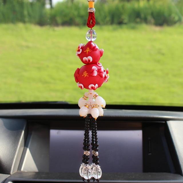 Car ornaments polymer clay beaded gourd ornaments car interior