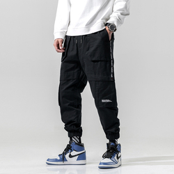Мужские штаны-шаровары в стиле хип-хоп, с несколькими карманами, в ковбойском стиле
