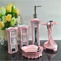 HOT Bathroom Set Resin Bathroom Set Of Five Pieces Bathroom Toiletries Kit Bathroom Accessories