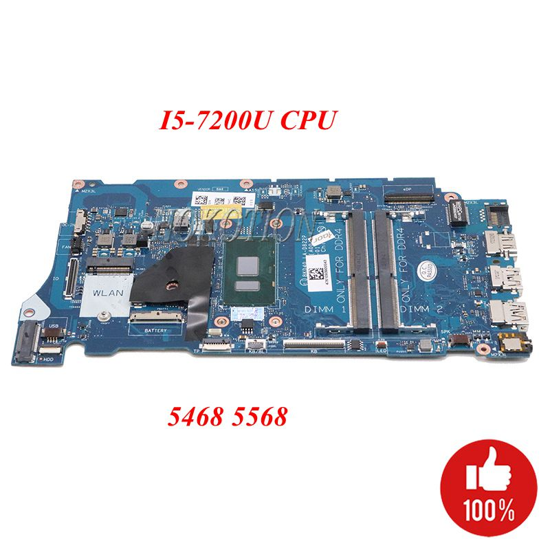 NOKOTION Laptop Main board For DELL Vostro 5468 5568 LA D822P 06NY5G 6NY5G CN 06NY5G With