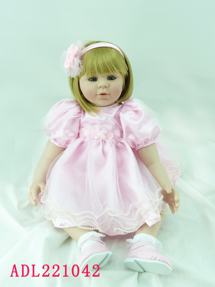 Vinyl silicone reborn baby dolls accompany sleeping lifelike princess toddler doll kid cute christmas new year boutique gifts new 22 55cm silicone reborn baby dolls accompany sleeping princess girl doll toy handmade lifelike christmas gift brinquedos