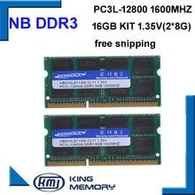KEMBONA جودة عالية وسرعة sodimm محمول رام DDR3L 16 جيجابايت (عدة من 2 قطعة ddr3 8 جيجابايت) PC3L 12800 204pin ذاكرة عشوائية 1.35 فولت