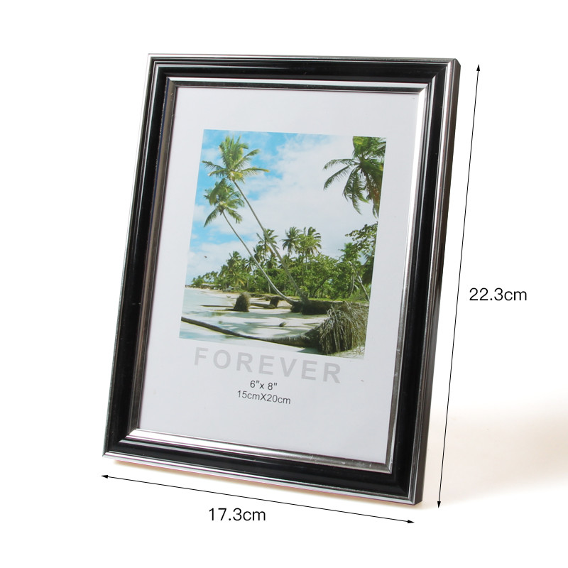 8inch Plastic Photo Frame Acrylic Wood Card Backplane Stand Table Display Photo Quadro Decoration TV Wall Frame Best Gift