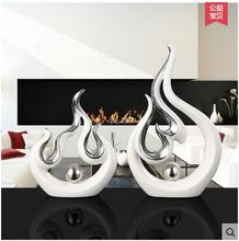Minimalist ceramic lucky strong flame Design home decor crafts room decoration handicraft porcelain figurines wedding