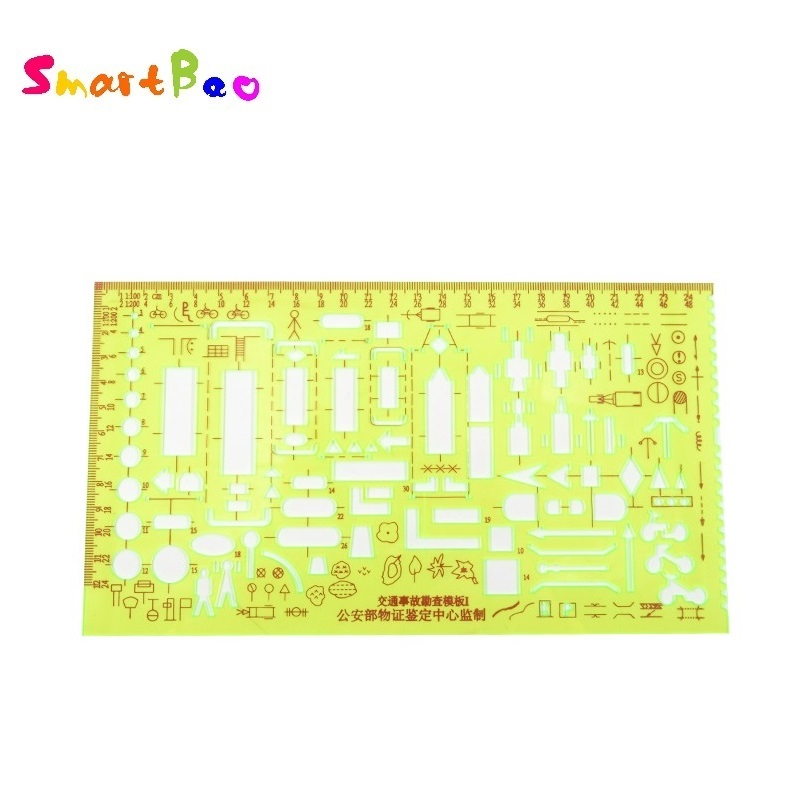 Traffic Accident Drawing Template Ruler Traffic Investigation Template Traffic Accident Symbols