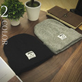 2016 Men's Skullies Hat Bonnet Winter Beanie Knitted Wool Hat Solid Color Thicker Mask Fringe Fashion Beanies Hats for men