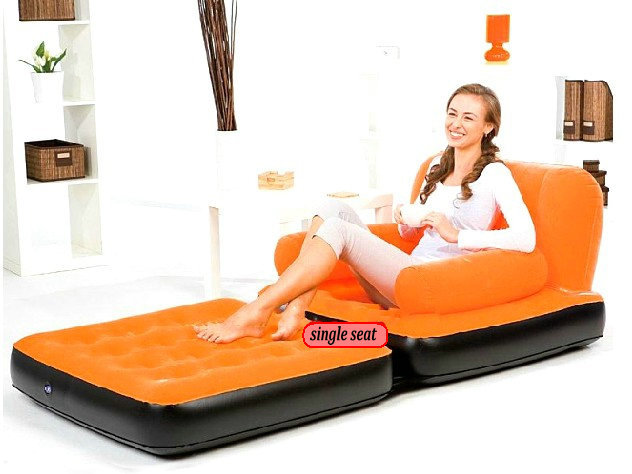 5 in 1 sofa bed single seat inflatable sofa bed air bed for Sofa bed 5 in 1 murah