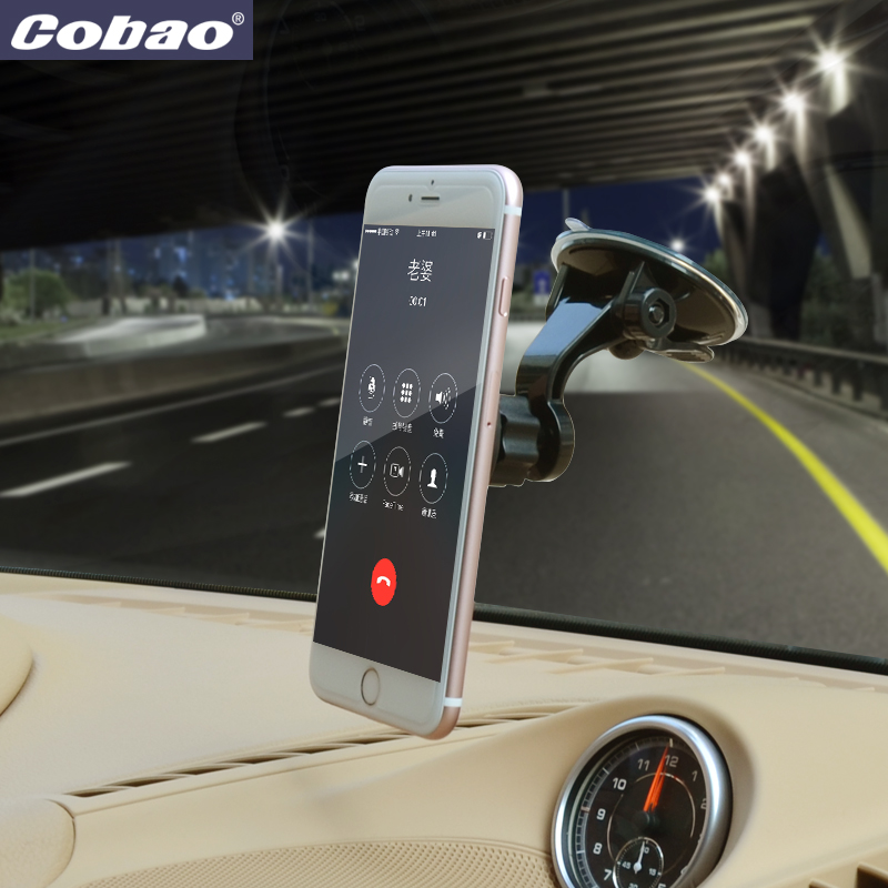 Cobao universal car windshield magnetic mobile phone holder stand strong suction mount holder for the car for smartphone iphone