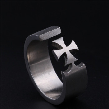 Cross Titanium Steel Rings3