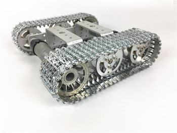 T101 Metal Mini Car Tank Caterpillar Smart Car Robot Tank Model