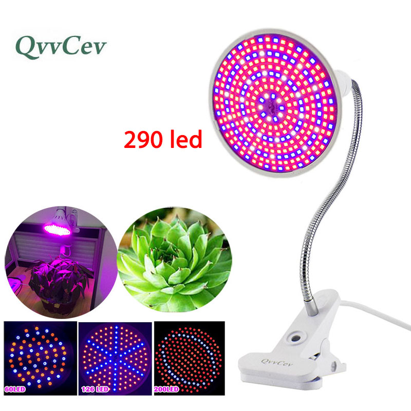 60 126 200 290 Led Plant Grow Light bulbs for Flower Growing lamp Indoor greenhouse hydroponic Flexible Lamp Desk Holder Clip цена и фото