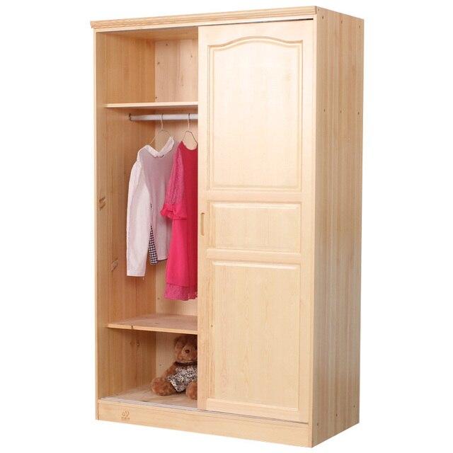 Especial de dos toda de madera de pino puerta corredera de armario ...
