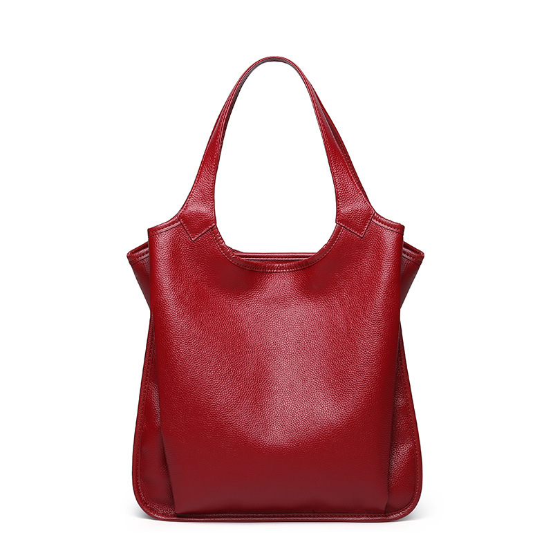 Luxury handbags women bags designer high quality solid color PU leather simple bag leisure new girls shoulder bag large capacity