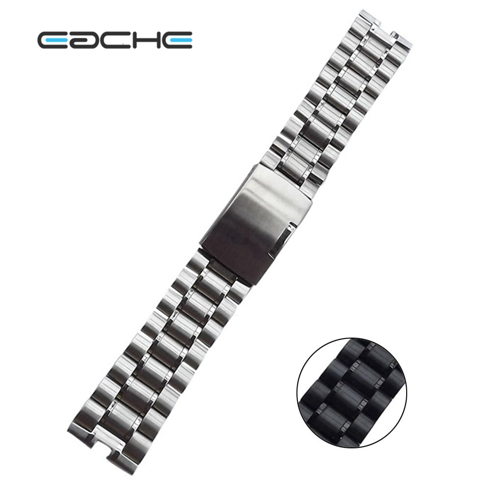 EACHE 22mm Solid Stainless Steel replacement Watch Band strapsFit For Moto  360 Smart Watch with Tools eache silicone watch band strap replacement watch band can fit for swatch 17mm 19mm men women