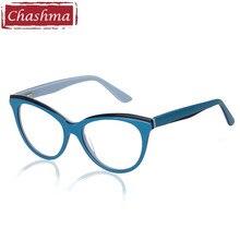 1a7ced4a3 Chashma Marca Material Acetato Eyewear Fêmea Tendência Da Moda Elegante  Estudante Óculos de Prescrição Quadro Mulheres