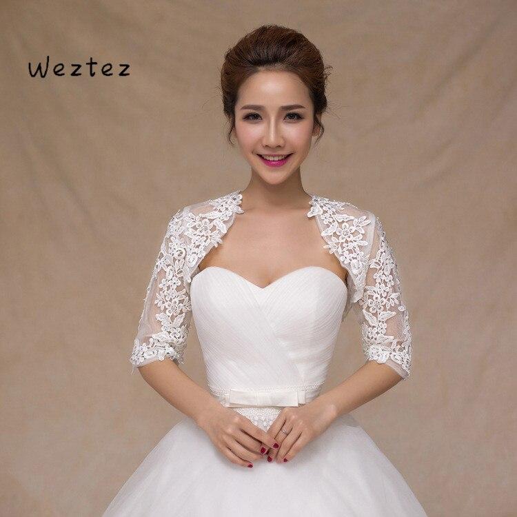 Bride Wedding Shawl Stereo Lace Vest Long Sleeve Wedding Dress Vest Wedding Jacket Wedding Accessories PJ12