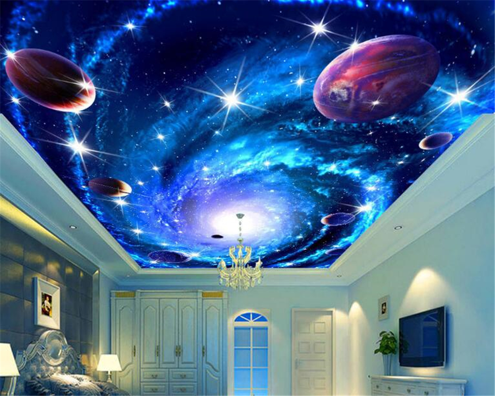beibehang 3d wallpaper Ultra high definition fashion high level fantasy wallpaper shock universe sky stereo 3d