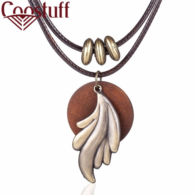 2017 New Wholesale vintage Chokers necklaces Women Fashion Jewelry Wood & Leaf p