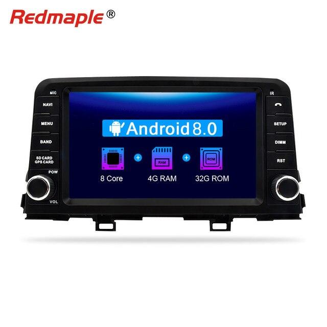 "8"" Octa Core 4G RAM Android 8.0 Car Radio DVD GPS Navigation Multimedia Player for KIA Picanto Morning Auto Audio Headunit"