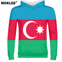 AZERBAIJAN male youth student free custom made name number flag clothing tees aze country pullover azerbaijani nation az clothes
