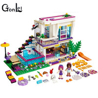 GonLeI 10498 Friends Livi S Pop Star House Compatible With Building Block Set Andrea 41135