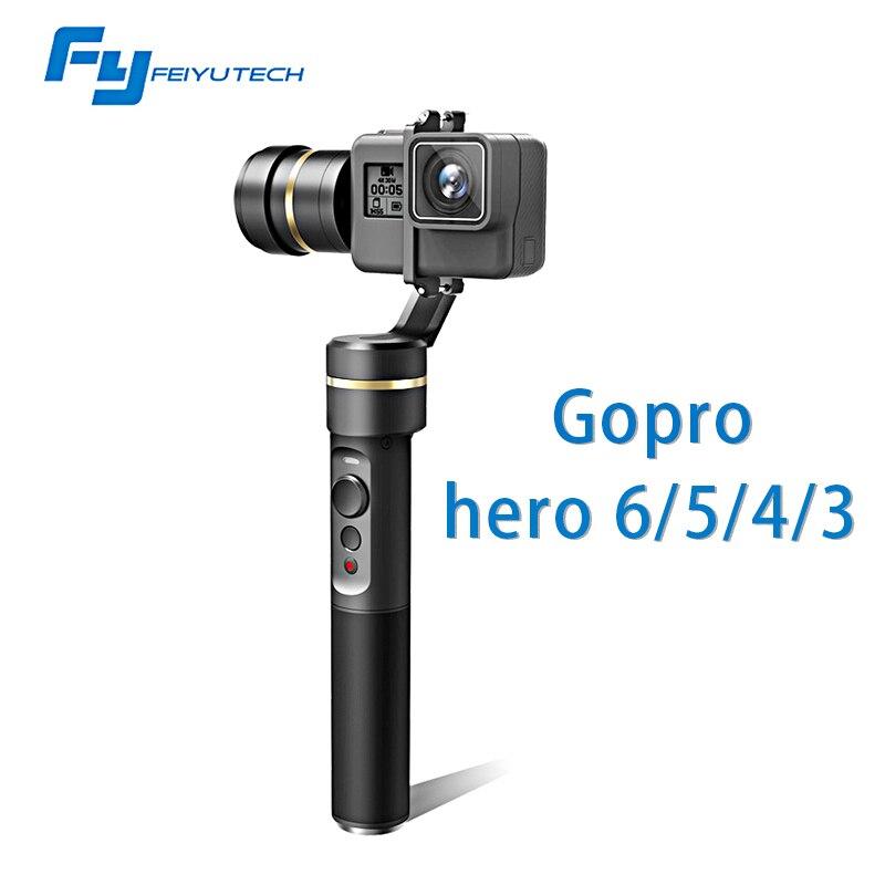 FeiyuTech fy G5 cardan portable 3 axes étanche pour GoPro HERO 6 5 4 3 3 + Xiaomi yi 4 k SJ AEE caméras d'action APP Bluetooth
