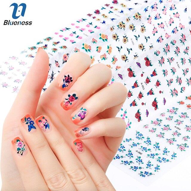 Blueness 30pcslot 3d Charms Mix Flowers Design Plastic Manicure
