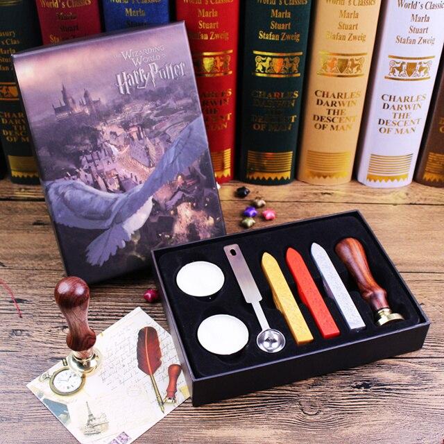 Harry Hogwarts School Seal Wax, Magic Creative Retrograduation Gift Brand New Boxed Model Ornaments Kids Present