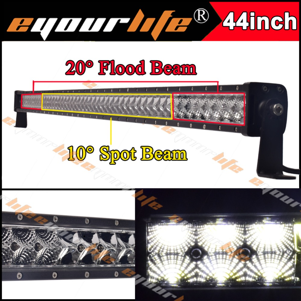 Eyourlife 44/46 inch 12v 24v led bar waterproof IP68 4x4 suv led light bar offroad automobiles spot flood combo 240w 22 inch led bar offroad 120w led light bar off road 4x4 fog work lights for trucks tractor atv spot flood combo led lightbars